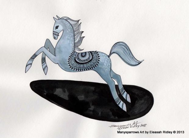 1-grey silver jumping horse 001