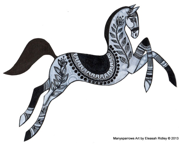 1-leaping horse ornate 001