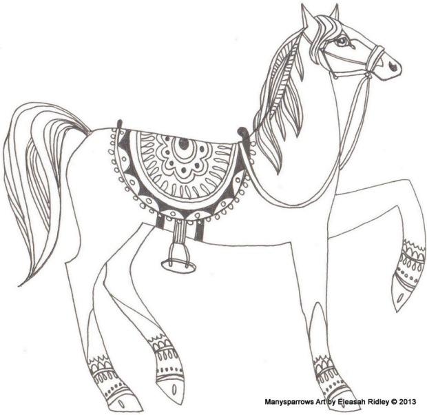 5 horses prance