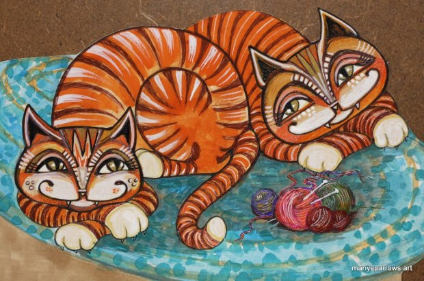 cats by manysparrows art (5)