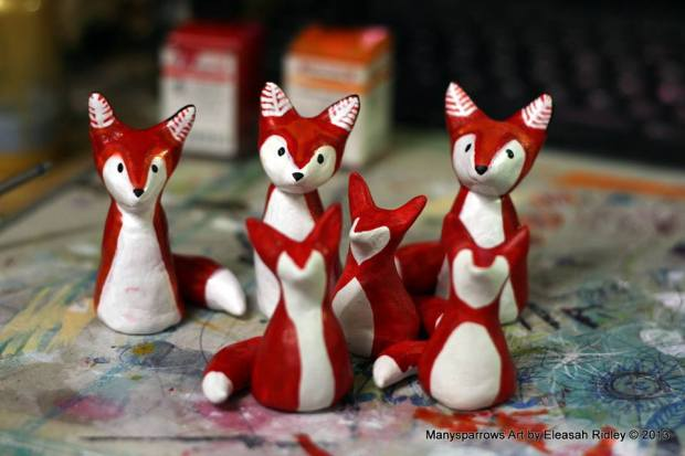 manysparrows art foxes (11)