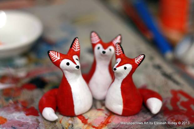 manysparrows art foxes (2)