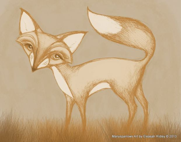 manysparrows art foxes (5)