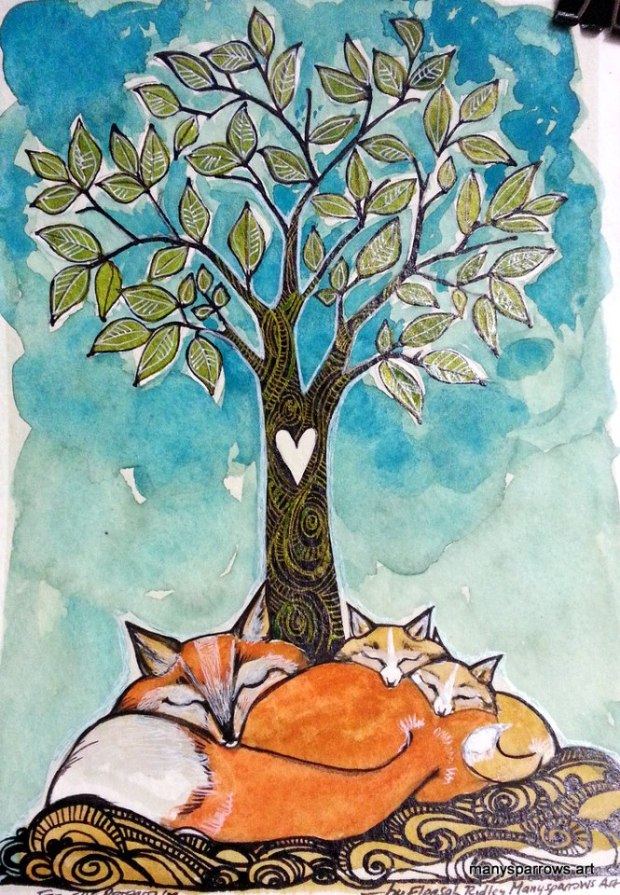 manysparrows art foxes (8)