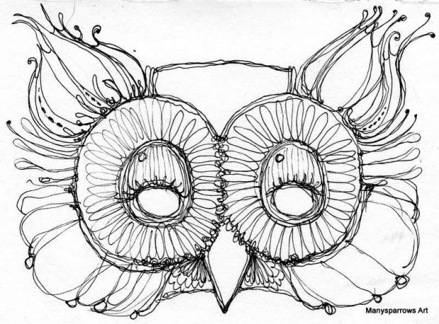manysparrows art owls (10)