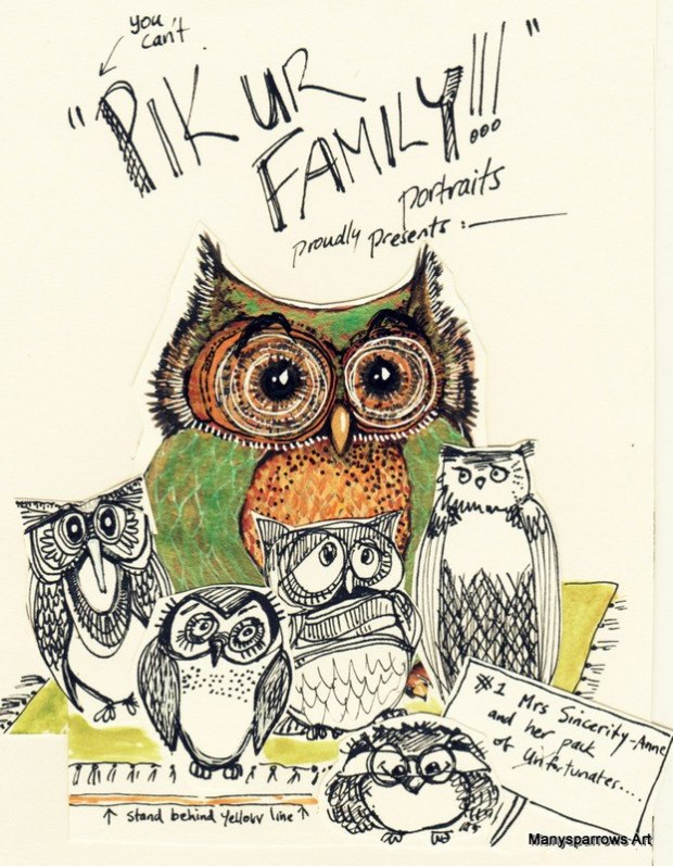 manysparrows art owls (11)