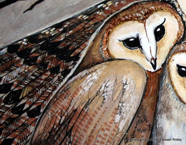 manysparrows art owls (17)