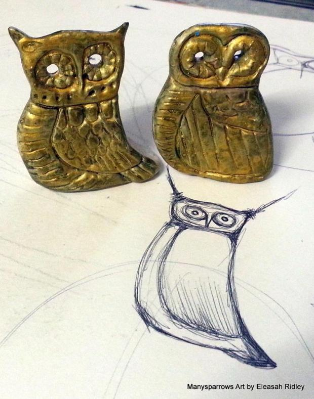 manysparrows art owls (21)