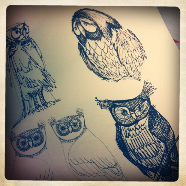 manysparrows art owls (23)