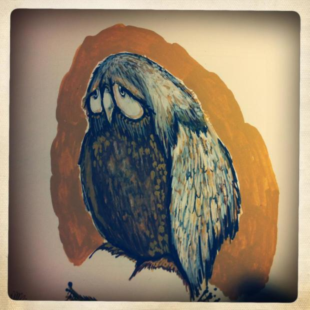 manysparrows art owls (24)