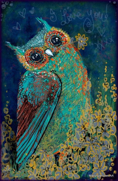 manysparrows art owls (25)