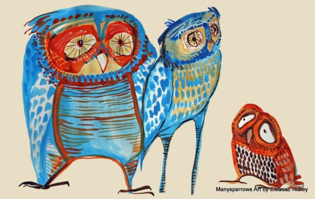 manysparrows art owls (26)