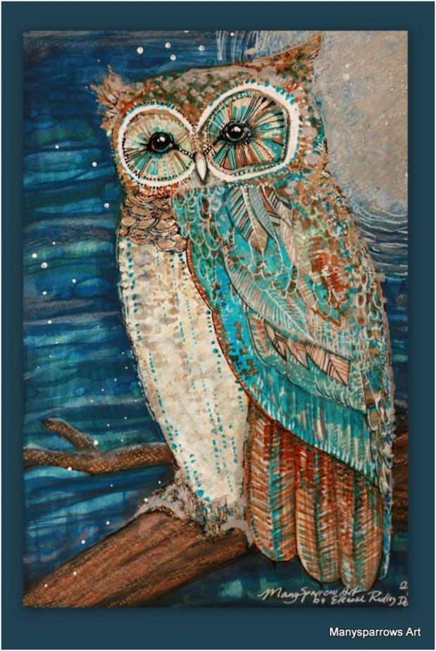 manysparrows art owls (27)