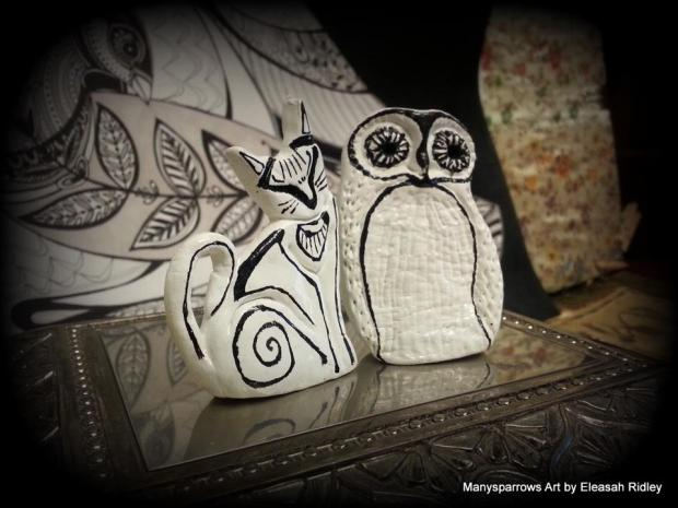 manysparrows art owls (3)