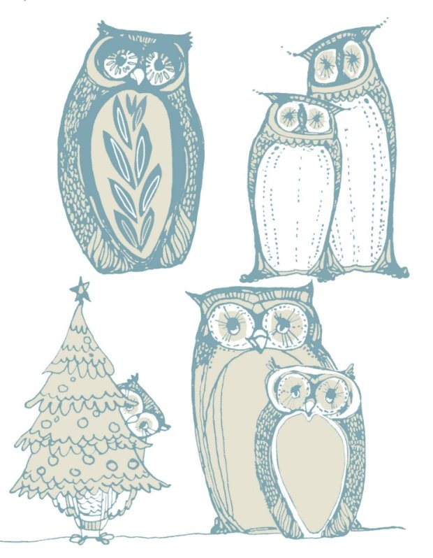 manysparrows art owls (4)