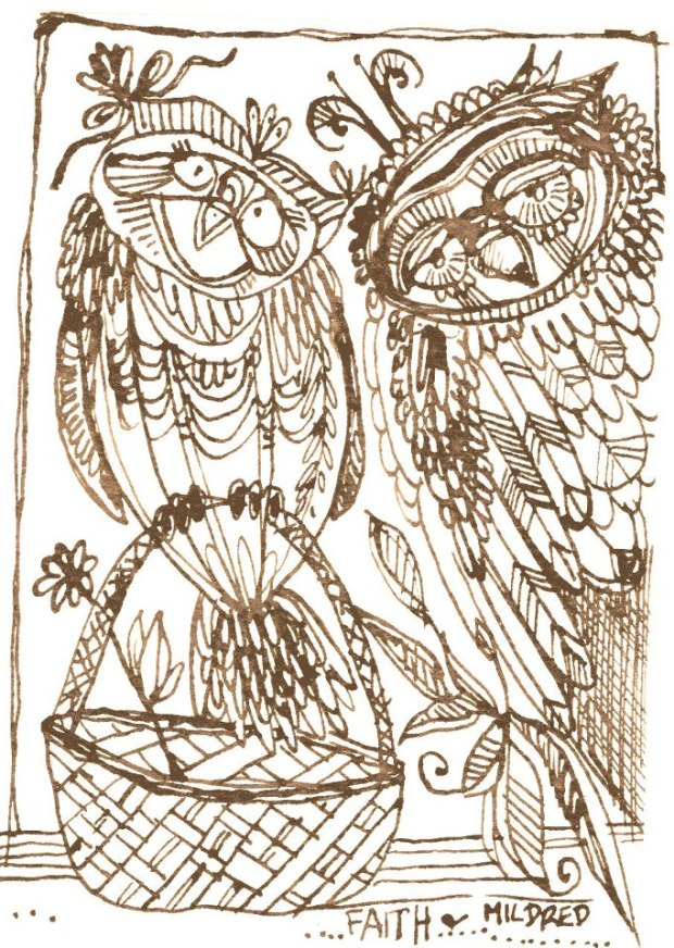 manysparrows art owls (6)