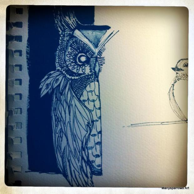 manysparrows art owls (7)