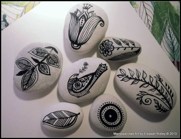 painted stones and clay by manysparrows art (11)