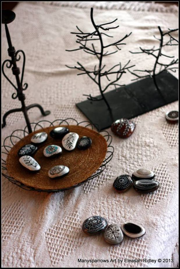 painted stones and clay by manysparrows art (15)