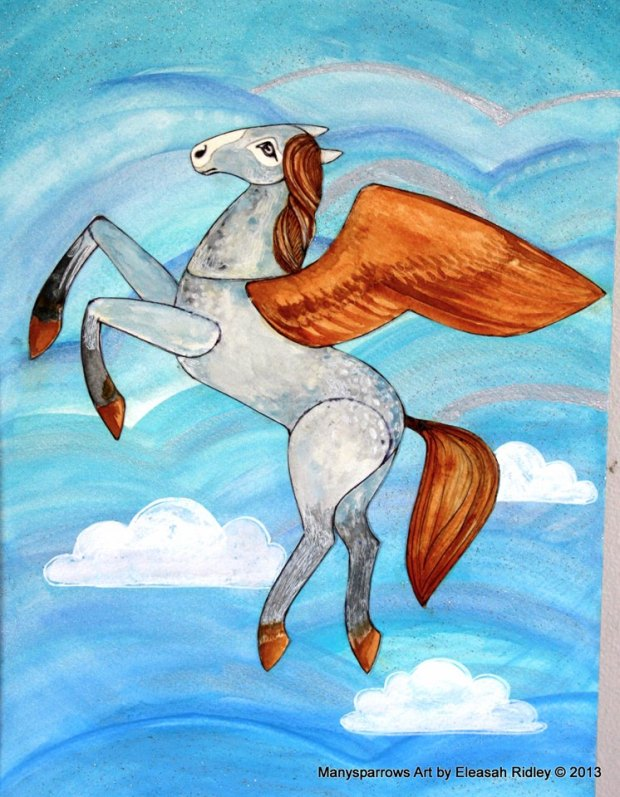 watercolour flying horses (2)