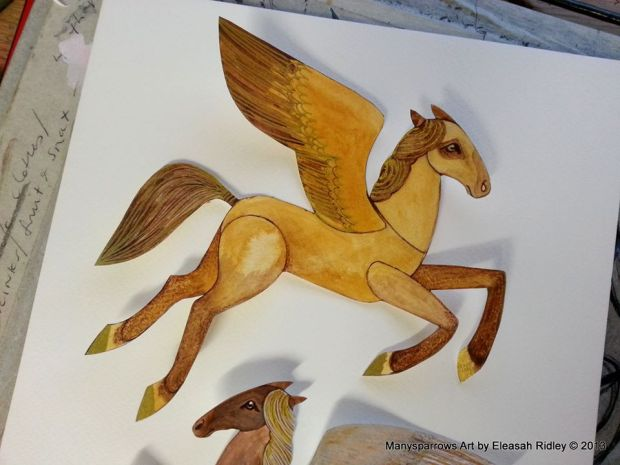 watercolour flying horses (5)