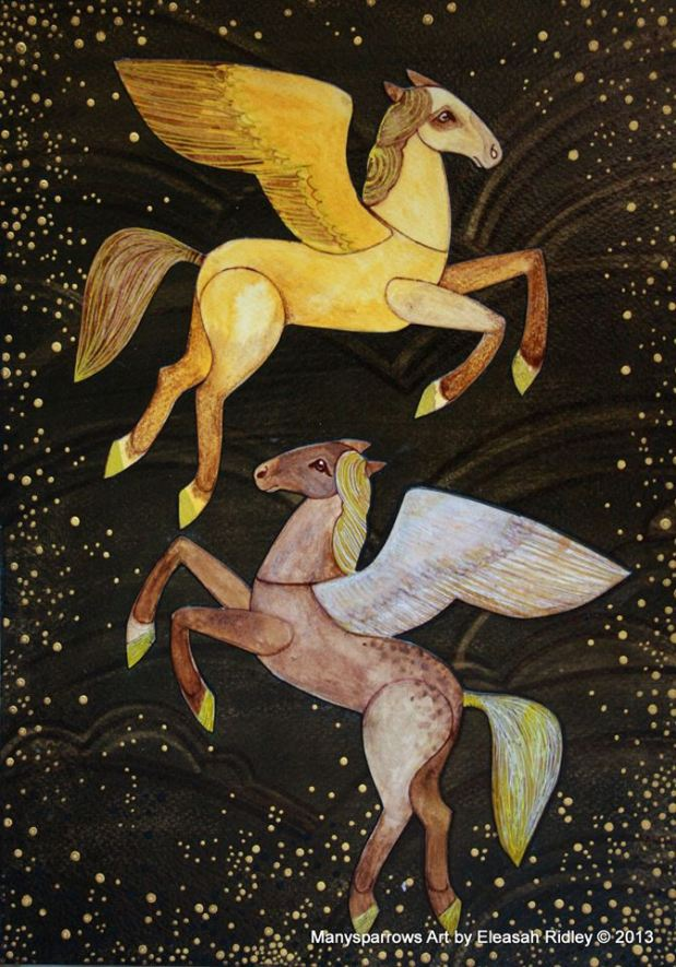 watercolour flying horses (6)